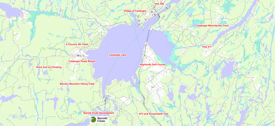 Regional Map Ottawa Valley Calabogie